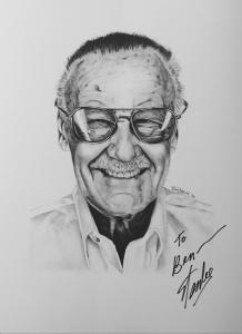 Stan Lee Portrait Painting - Oil Paint